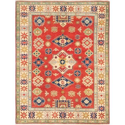 Hand-knotted Uzbek Gazni Red Wool Rug