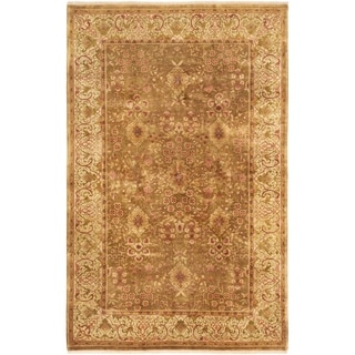 ECARPETGALLERY  Hand-knotted Jamshidpour Brown Wool Rug - 5'8 x 8'9