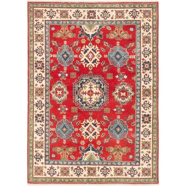 ECARPETGALLERY Hand-knotted Finest Gazni Red Wool Rug - 4'9 x 6'7