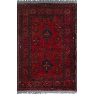 ECARPETGALLERY  Hand-knotted Finest Khal Mohammadi Red Wool Rug - 3'5 x 5'0