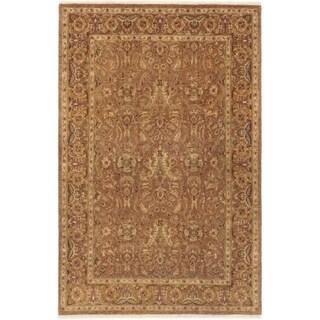 ECARPETGALLERY  Hand-knotted Chobi Twisted Dark Brown Wool Rug - 3'10 x 6'0