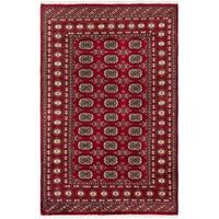 ECARPETGALLERY Hand-knotted Finest Peshawar Bokhara Wool Rug