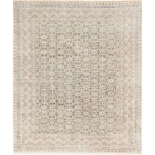ECARPETGALLERY Hand-knotted Royal Ushak Ivory Wool Rug - 8'0 x 9'5