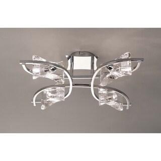 Four Light Crystal Semi-Flush-KROM - Chrome