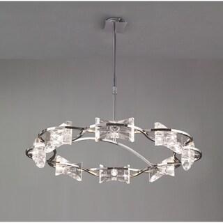 Eight Light Round Crystal Chandelier -KROM - Chrome