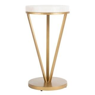 "Safavieh Theia Accent Table -White / Gold - 14"" x 14"" x 24"""