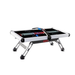 """ESPN 84"""" Air Powered Hockey Table with Overhead Electronic Scoring - Black"""