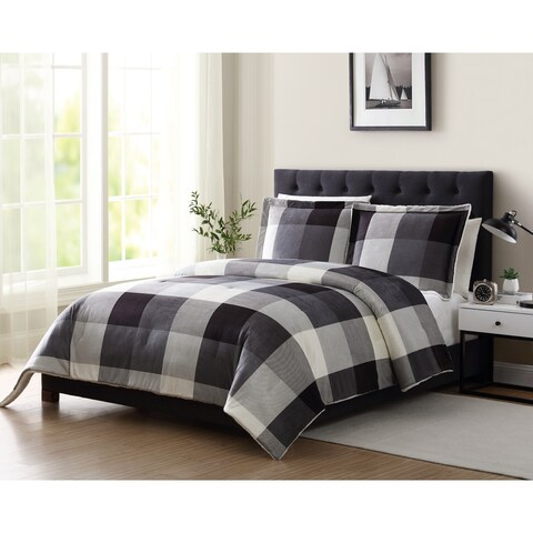 Mountain Ridge Tanner II Plaid Sherpa 2 & 3 Piece Comforter Set