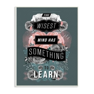 The Stupell Home Decor Collection Wisest Mind Has Something Typography Wood Wall Art, 10x15, Proudly Made in USA - Multi-color