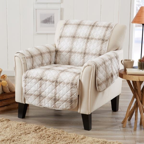 Wondrous Shop Great Bay Home Stain Resistant Plaid Printed Chair Unemploymentrelief Wooden Chair Designs For Living Room Unemploymentrelieforg