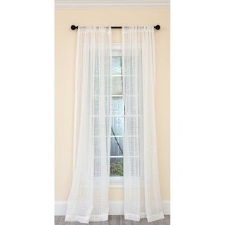 Isa Plaid Sheer Rod Pocket Curtain 52 by 84-Inch, Single Panel