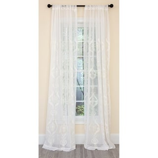 Manor Luxe Ellie Embroidered Sheer Single Curtain Panel