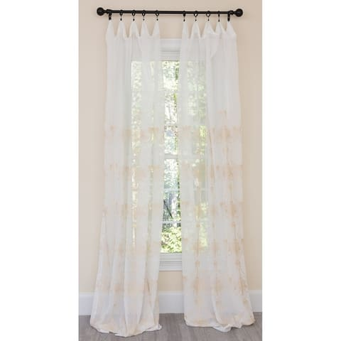 Manor Luxe Lillie Embroidered Sheer Single Curtain Panel