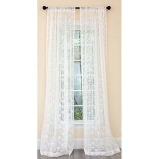 Manor Luxe Charming Night Sheer Single Curtain Panel