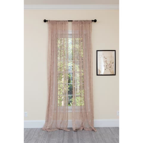 Manor Luxe Elegent Butterfly Sheer Single Curtain Panel
