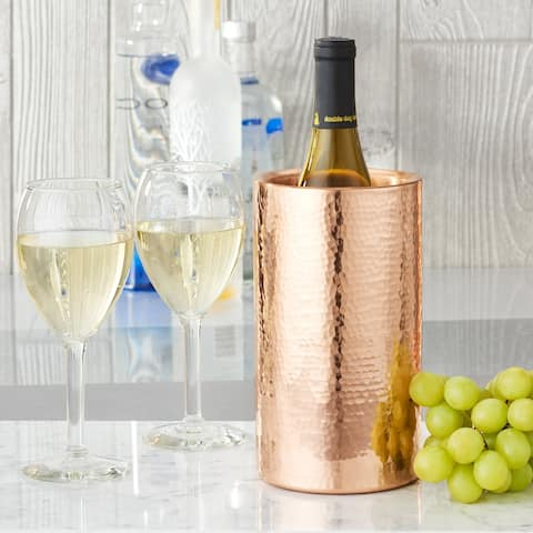 Stone Hammered Solid Copper Double Walled Wine Cooler