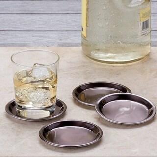 Gunmetal Beverage Coasters, Set of 4