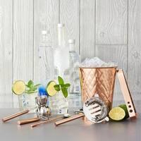 6 Pc. Copper Embossed Diamond Bar Set