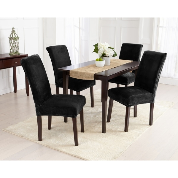 4 Dining Room Chairs For Sale: Shop Great Bay Home 4-Pack Velvet Plush Solid Dining Room