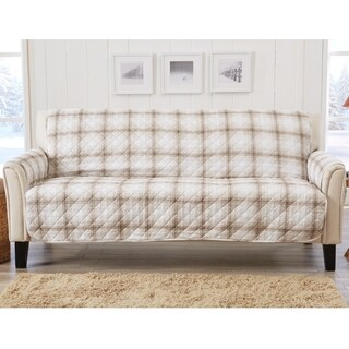 Great Bay Home Stain Resistant Plaid Printed Sofa Furniture Protector