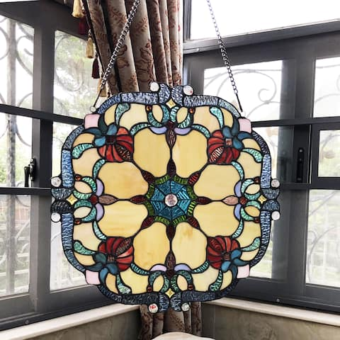 Chloe Tiffany Style Stained Glass Window Panel Suncatcher