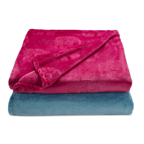 Vellux Boho Embossed Soft Throw Blanket