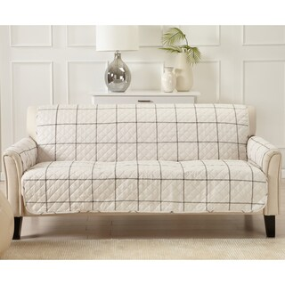 Great Bay Home Stain Resistant Window Pane Printed Sofa Furniture Protector