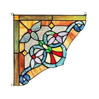 Tiffany Style Window Corner Panel/Suncatcher