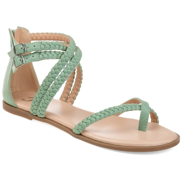 e5a51934569c Shop Journee Collection Women s Comfort Imogen Faux Leather Sandal ...