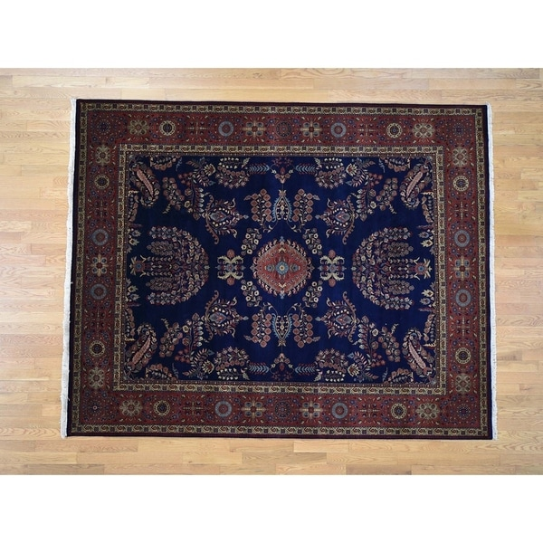 Shop Hand Knotted Blue Fine Oriental With New Zealand Wool Oriental