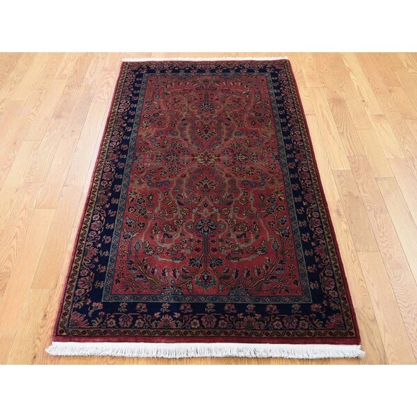"""Hand Knotted Red Fine Oriental with New Zealand Wool Oriental Rug (3' x 5'6"""") - 3' x 5'6"""""""