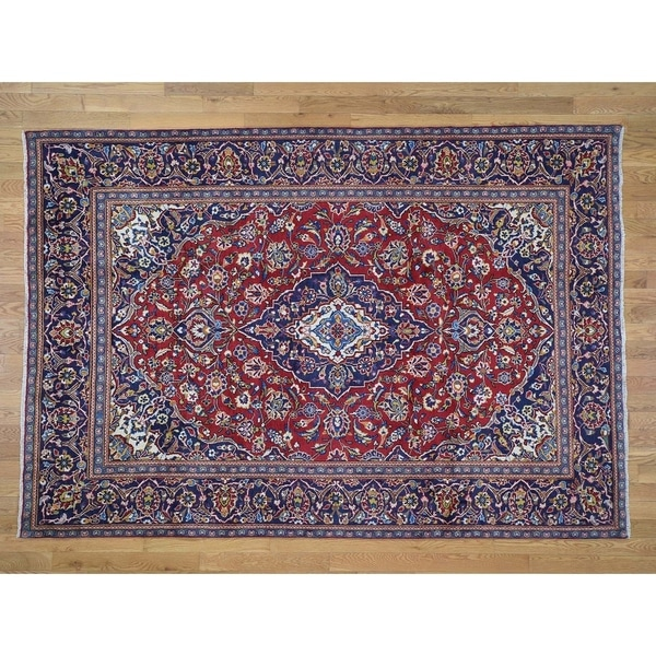 "Hand Knotted Red Persian with Wool Oriental Rug (6'5"" x 9'4"") - 6'5"" x 9'4"""
