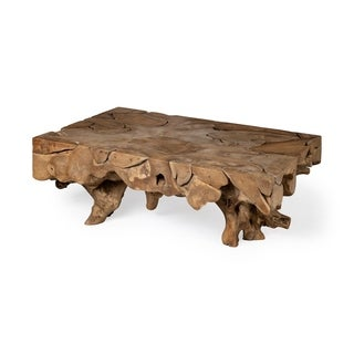 Mercana Jati Rectangular Brown Wooden Coffee Table