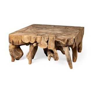 Mercana Tempel Square Wooden Coffee Table