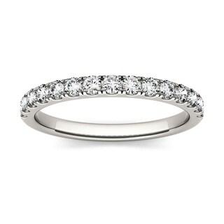 Moissanite by Charles & Colvard 14k White Gold 0.45 DEW Wedding Band