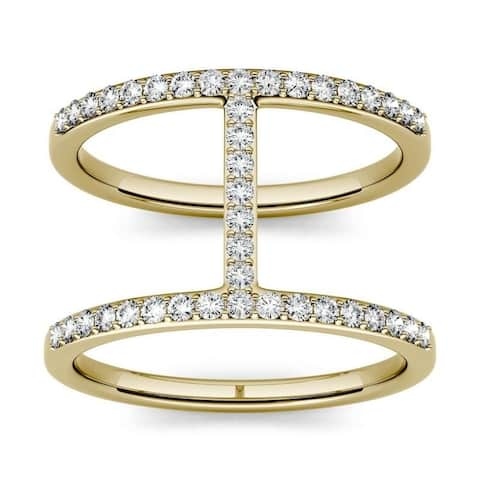 Moissanite by Charles & Colvard 14k Gold 0.41 DEW Geometric Fashion Ring
