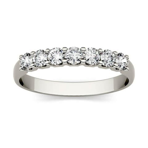 Moissanite by Charles & Colvard 14k Gold 0.42 DEW Seven Stone Band