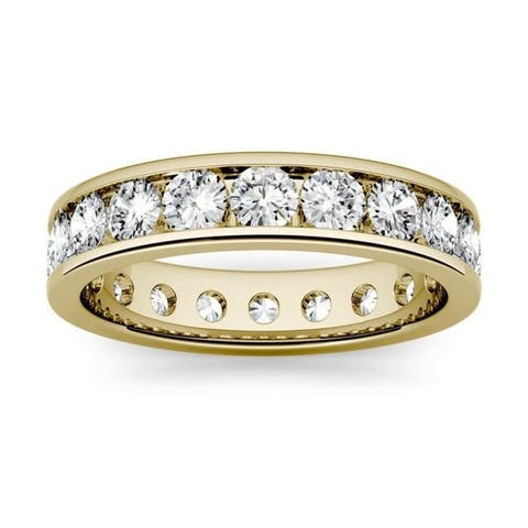 Moissanite by Charles & Colvard 14k Gold 2.1 DEW Channel Set Eternity Band