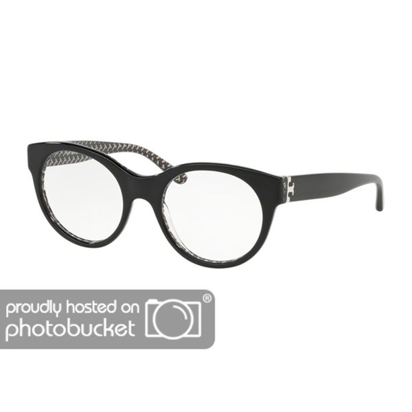 9e97cf8d5 Shop Tory Burch Round TY2085 Women's BLACK/BLACK WHITE ZIG ZAG PRIN Frame  DEMO Eyeglasses - Free Shipping Today - Overstock - 25418131