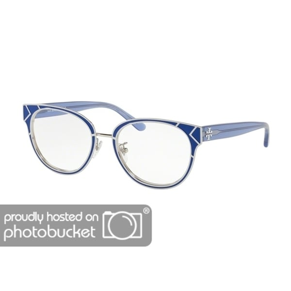 Tory Burch Cat Eye TY1055 Women's BLUE / SHINY SILVER Frame DEMO LENS  Eyeglasses