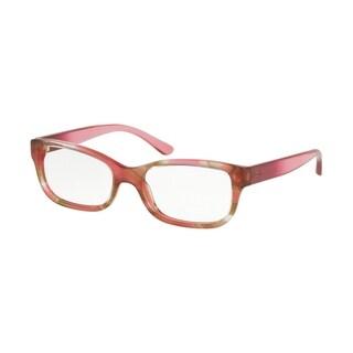 Tory Burch Rectangle TY2087 Women's PINK HORN Frame DEMO LENS Eyeglasses