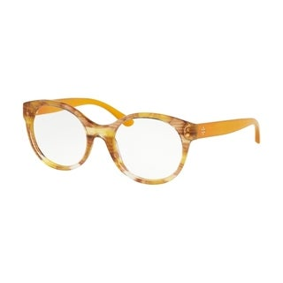 Tory Burch Round TY2086 Women's YELLOW HORN Frame DEMO LENS Eyeglasses