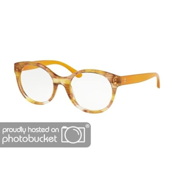 dcc5c1cf0ba Shop Tory Burch Round TY2086 Women s YELLOW HORN Frame DEMO LENS Eyeglasses  - Free Shipping Today - Overstock - 25418159
