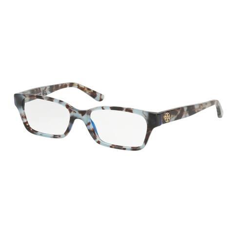 Tory Burch Rectangle TY2080 Women's BLUE TORTOISE Frame DEMO LENS Eyeglasses