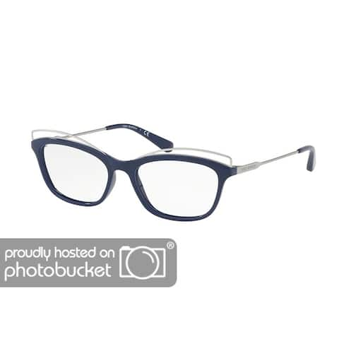 TORY BURCH TY4004 Unisex Navy Silver Frame Clear Lens Eyeglasses