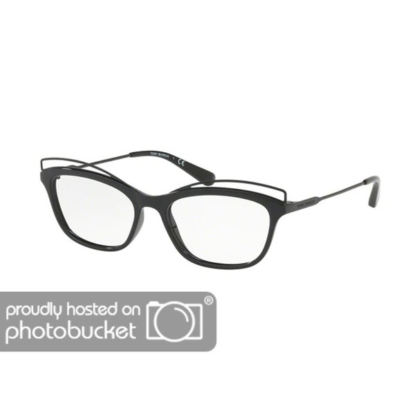 b177605ded Shop Tory Burch Butterfly TY4004 Women s BLACK BLACK Frame DEMO LENS  Eyeglasses - Free Shipping Today - Overstock - 25418229