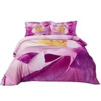 Cotton Bedding Set - 6 Piece Duvet Cover Set w. Fitted Sheet