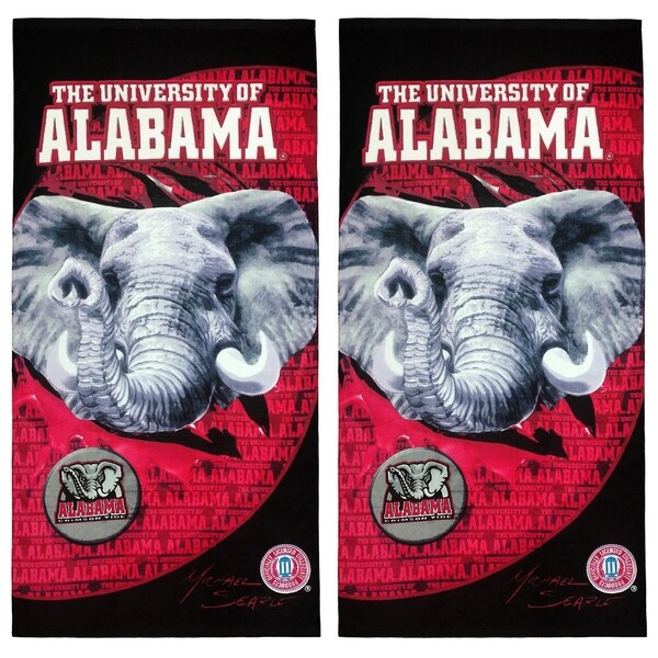 "Collegiate Collection, University of Alabama Beach Towel, Set of 2, Size: 30"" x 60"""