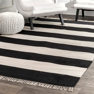 Porch & Den Mickey Casual Stripped Fringe Area Rug