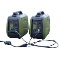 4400 Watt Gasoline Inverter Generator Kit w/ 30 Amp Parallel Cable - Green - N/A